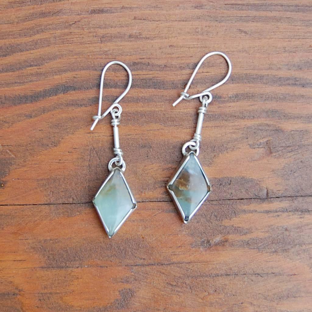 """""""Betty"""" Nelly Sanchez Loor Andean Opal Earrings"""