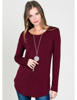 - Long Sleeve Modal Round Neck Top