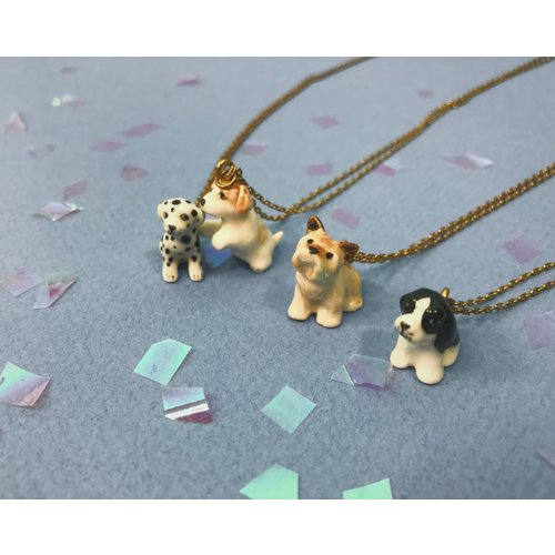 Peter and June Tiny Animal Necklace - Dogs