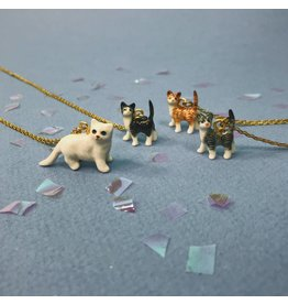Peter and June Tiny Animal Necklace - Cats