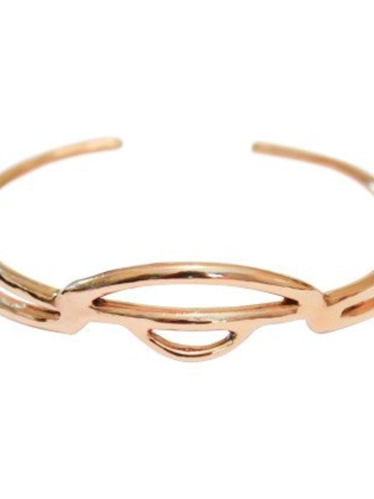 Elisha Marie Dawning Carved Bracelet in Bronze