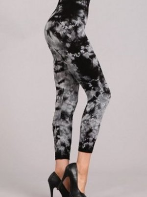 M Rena Tie Dye Leggings CROPPED - Black