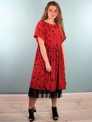 Sarah Bibb Abbie Dress - Red Nav