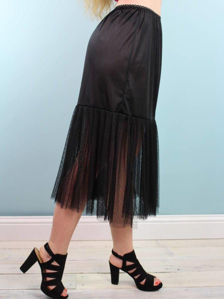 Sarah Bibb Mazzie Half Slip - Black
