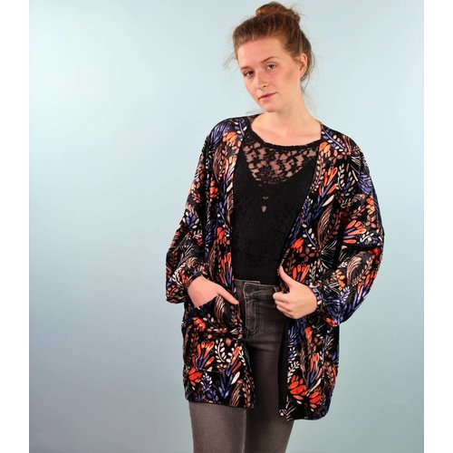 Traffic People Kimono Jacket - Lazo