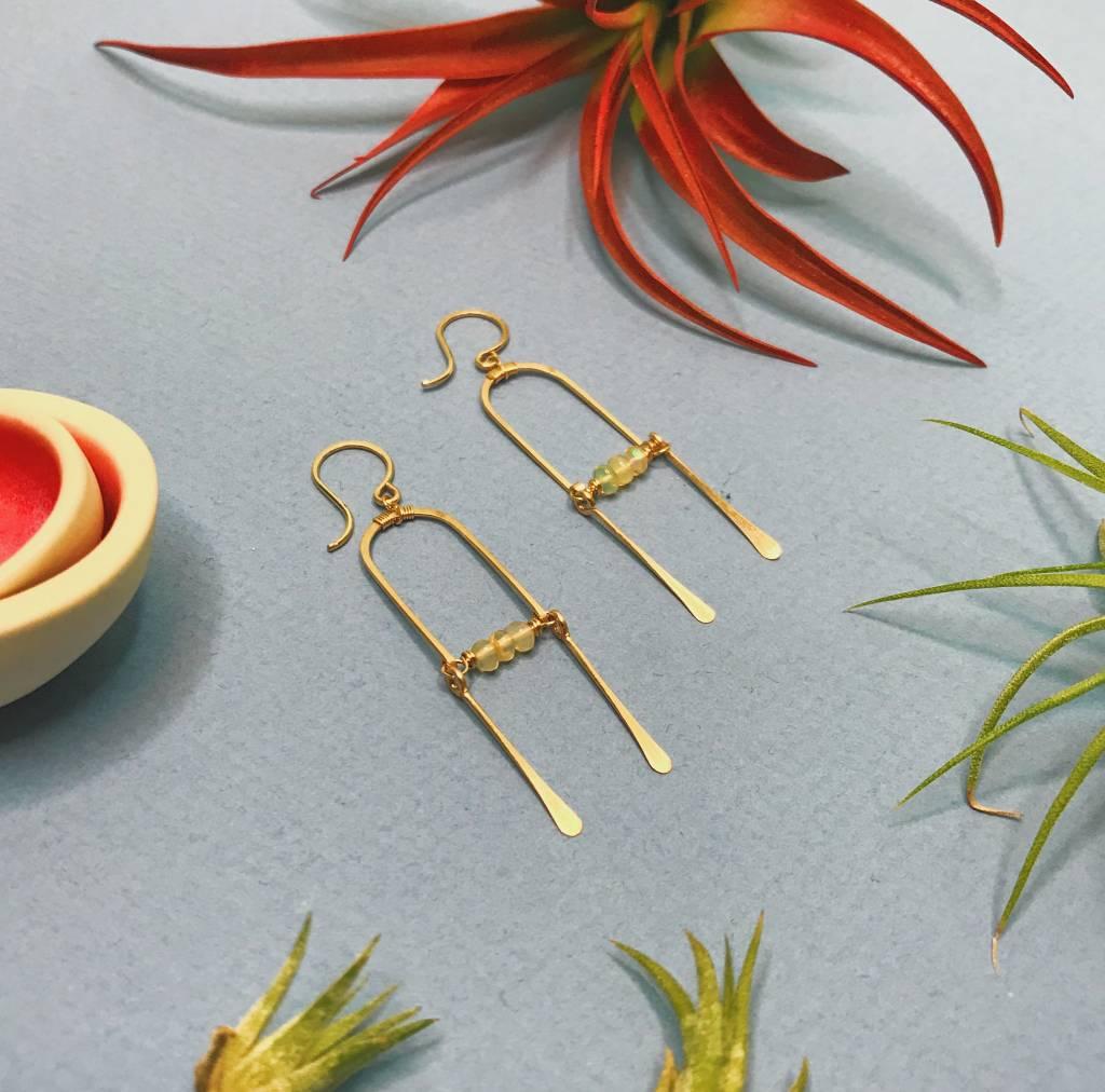 135f05d44f188 Hinged Opal Fringe Earrings