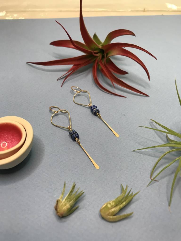 Amy Olson Gwen Earrings - Lapis