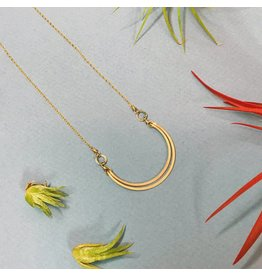 Amy Olson Double Crescent Necklace