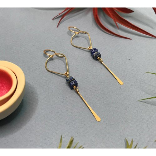 Amy Olson Gwen Earrings - Lapis