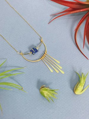 Amy Olson Fringe Necklace - Lapis