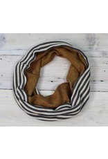 Sarah Bibb Single Loop Infinity Scarf - Dijon/Stripy