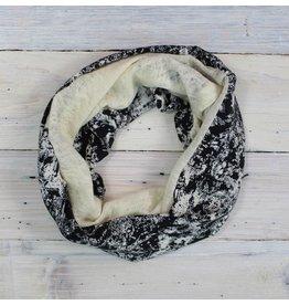 Sarah Bibb Single Loop Infinity Scarf - Storm/Ivory Woolie