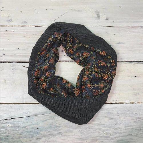 Sarah Bibb Single Loop Infinity Scarf -Dragon/Charcoal