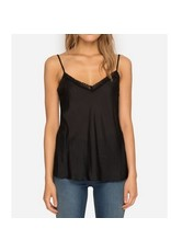 Johnny Was Silk Lace Trimmed Camisole - Black
