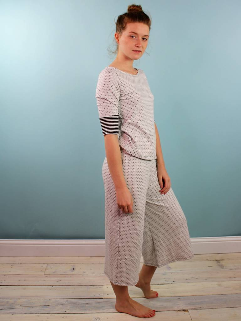 Sarah Bibb Hailey PJ Set - B&W point/stripe
