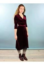 Winn Wrap Dress - Burg Velvet