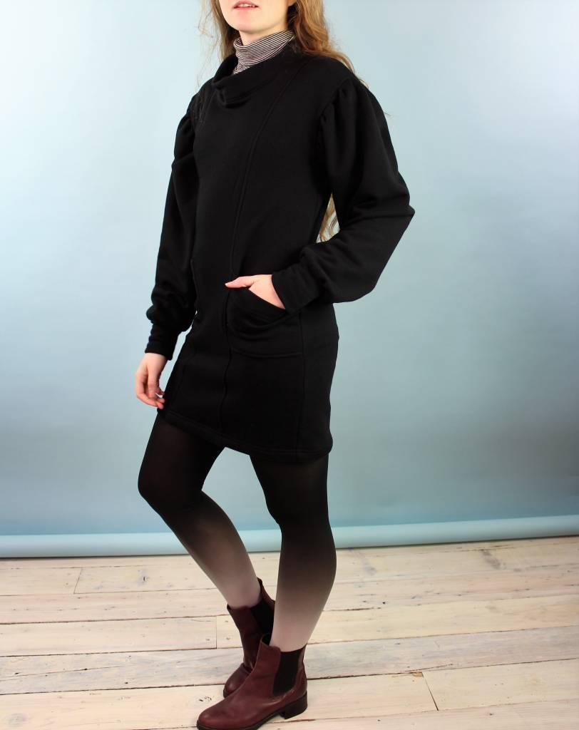 Sarah Bibb Lana Tunic/Dress - Black Fr Terry