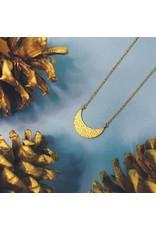 Nicole Weldon Crest Necklace - Brass