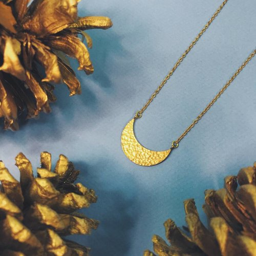Nicole Weldon Crest Necklace - Brass