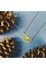 Nicole Weldon Parasol Necklace - Brass