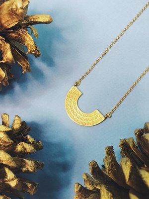 Nicole Weldon Celine Necklace -Brass