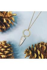 Nicole Weldon Quartz Tooth Necklace