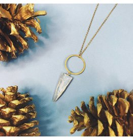 Nicole Weldon Quartz Tooth Necklace