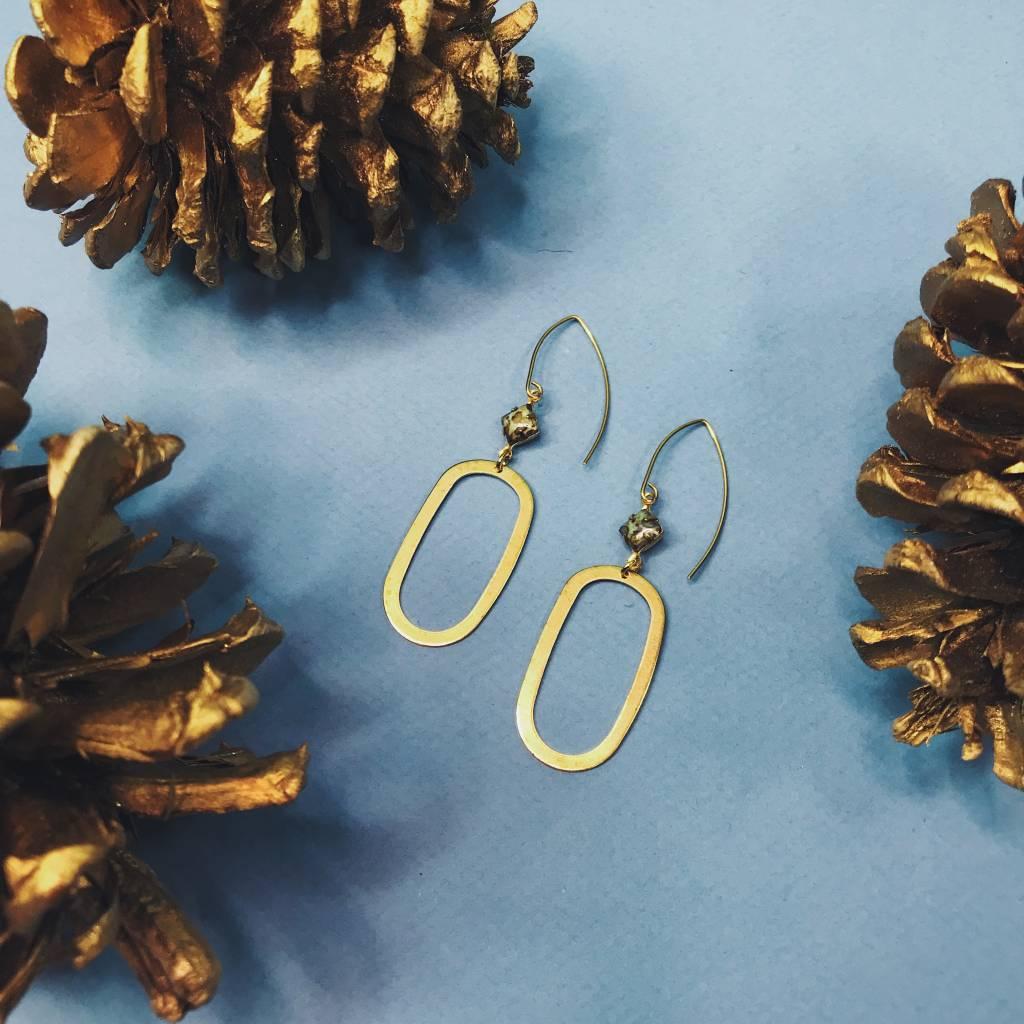 Nicole Weldon Marina Earring - Brass