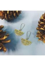 Nicole Weldon Piper Earrings Brass