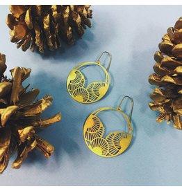 Nicole Weldon Ogi Earring - Brass