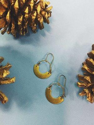 Nicole Weldon Frida Earring - Brass