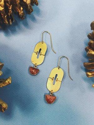 Nicole Weldon Goldie Earring - Brass