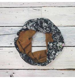 Sarah Bibb Single Loop Infinity Scarf -Dijon/Storm