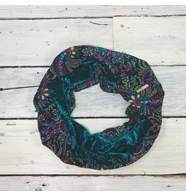 Sarah Bibb Single Loop Infinity Scarf -Teal Velvet/Agnes
