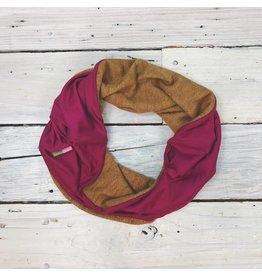 Sarah Bibb Single Loop Infinity Scarf - Dijon/Fucshia