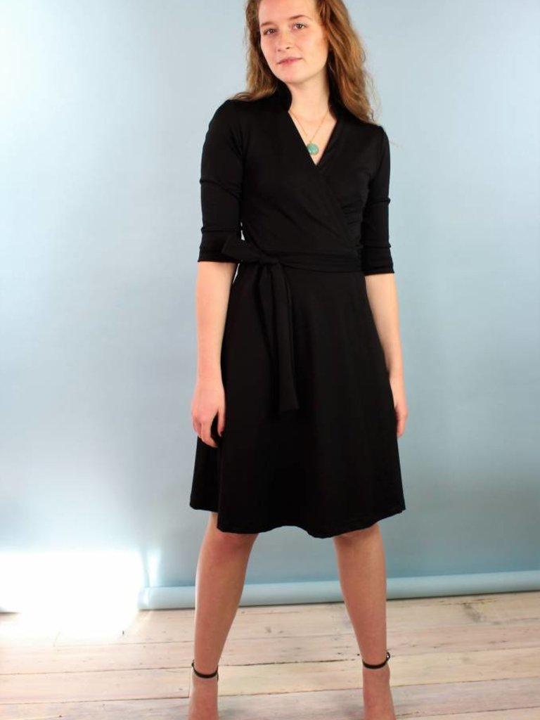 Sarah Bibb Mona Wrap Dress - Black