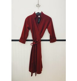 Sarah Bibb Mona Wrap Dress - Rouge