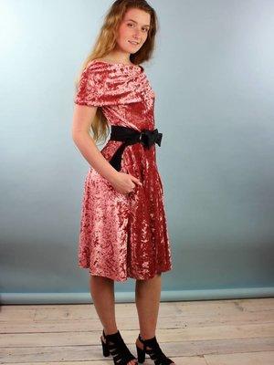 Sarah Bibb Gina Dress - Blush Velvet
