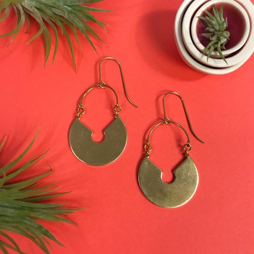 Nicole Weldon Medallion Earrings