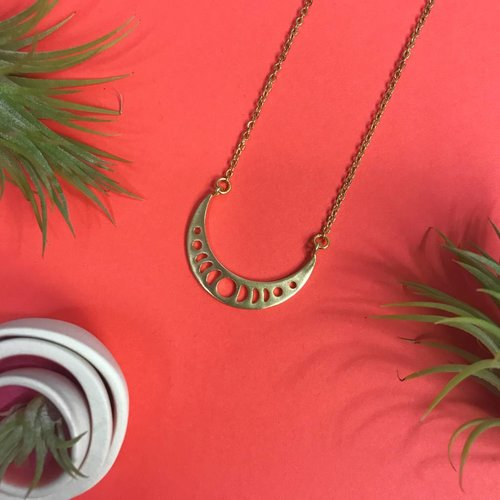 Nicole Weldon Crescent Phase Necklace