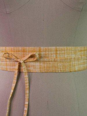 Sarah Bibb Mini Obi Belt- Golden Hash