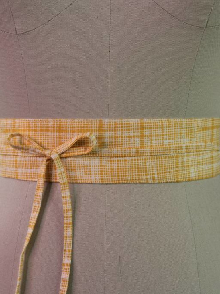 Sarah Bibb Mini Obi Belt- Golden Hash
