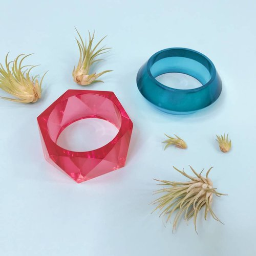 Ink & Alloy Lucite Bangles - Multiple Colors