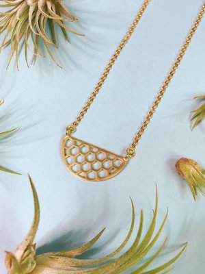 Nicole Weldon Small Honeycomb Necklace