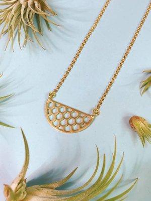 Nicole Weldon Small Honeycomb Necklace