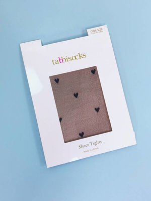 Tabbisocks Sheer Tights - Hearts