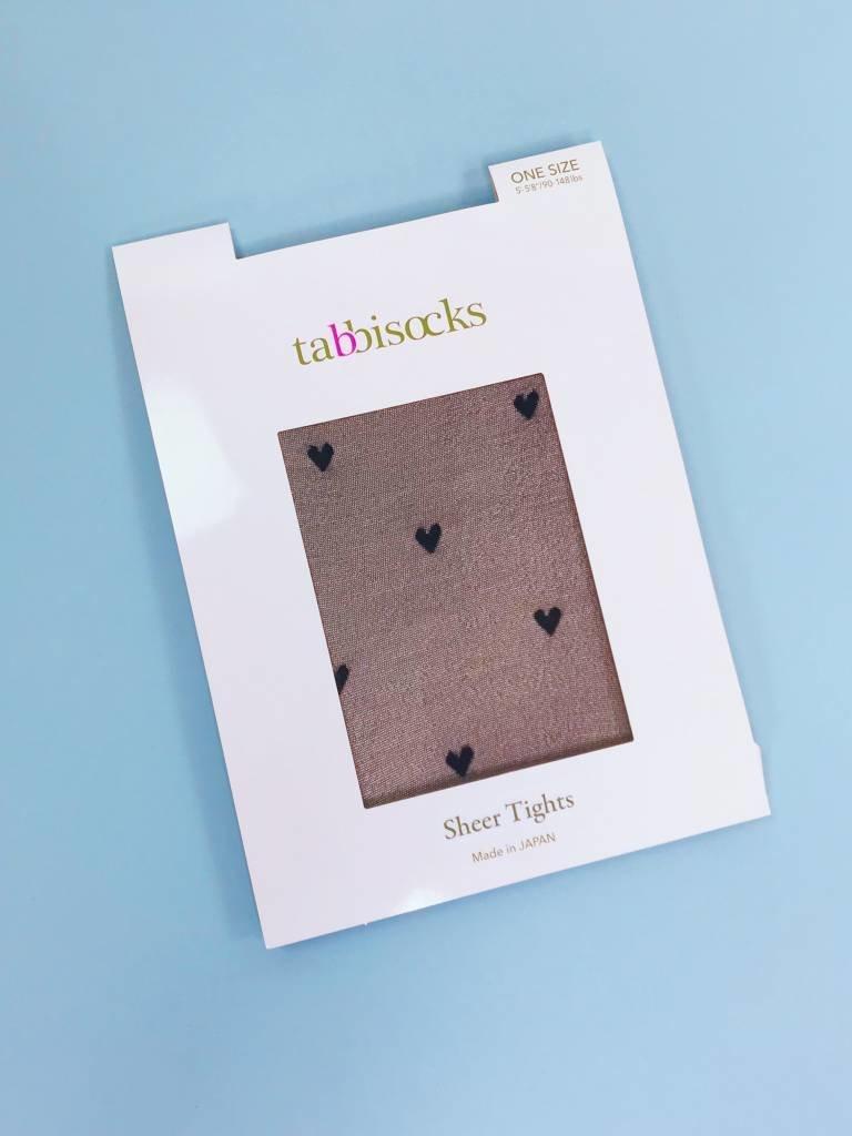 Tabbisocks Sheer Tights - Hearts