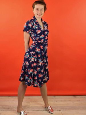 Sarah Bibb Tootie Wrap Dress - Calypso