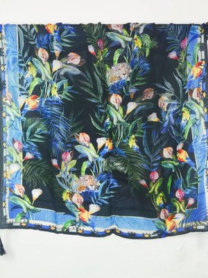 Johnny Was Silk Tassel Scarf - Jungle