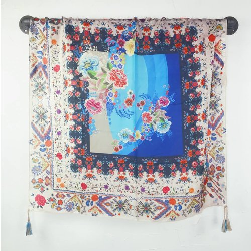 Johnny Was Silk Tassel Scarf - Miana